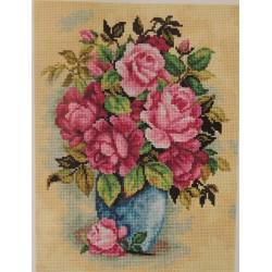 Ruusut sinisessä maljakossa
