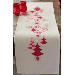Punaiset joulukoristeet...