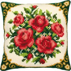 Ruusut-ristipistotyyny