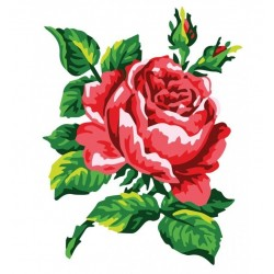 Punainen ruusu-kanavatyö 3146K