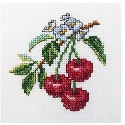 Kirsikka-ristipistotyö H250