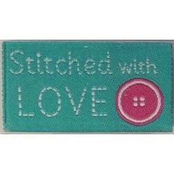 STICHED WITH LOVE -kangasmerkki