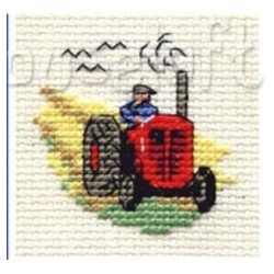Punainen traktori...