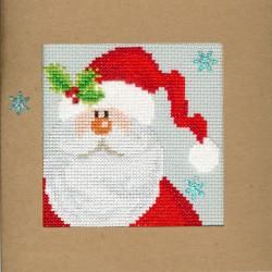 Joulupukki-joulukortti