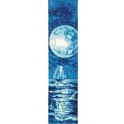 Sininen kuu -kirjanmerkki