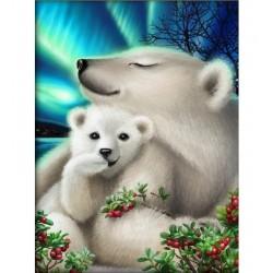 Jääkarhut-timanttimaalaus