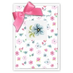 Sininen kukka -kortti